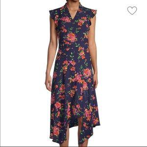Nanette Lepore Flutter Sleeve Midi Dress Size 6